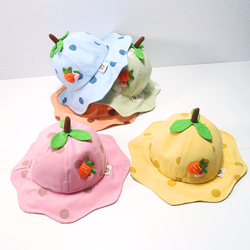 Новая весенняя детская шапка с рисунком морковки, шляпа в горошек для маленьких мальчиков и девочек, детское ведро для улицы, Детская Панама...