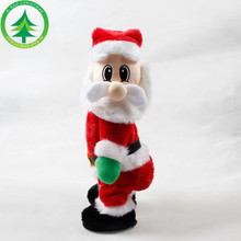 Novelty Christmas Decorations Electric Santa Toys Creative Buttocks Claus Dolls