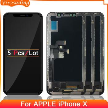 5pcs For Apple iPhone X LCD Display With Touch Screen Digitizer Assembly For Apple Iphonex LCD Display Replacement Black 1