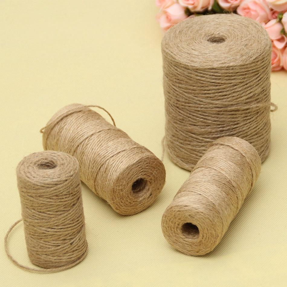 30/50/100 mètres naturel Vintage Jute corde corde ficelle toile de Jute ruban artisanat couture bricolage Jute chanvre décoration de fête de mariage