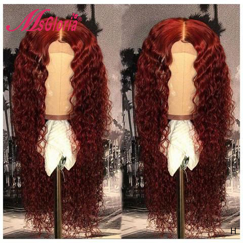 99J Human Hair Wigs For Women 150 Density 13x6 Lace Front Wig With Baby Hair Pre Plucked Brazilian Remy Hair Wig Bleached Knots