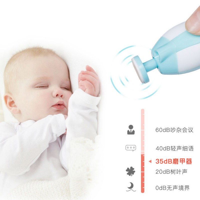 ABS Material Kids Baby Electric Nail Trimmer Cute Convenient Safety Solid Color Pedicure Clippers All Ages Can Use Care Sets