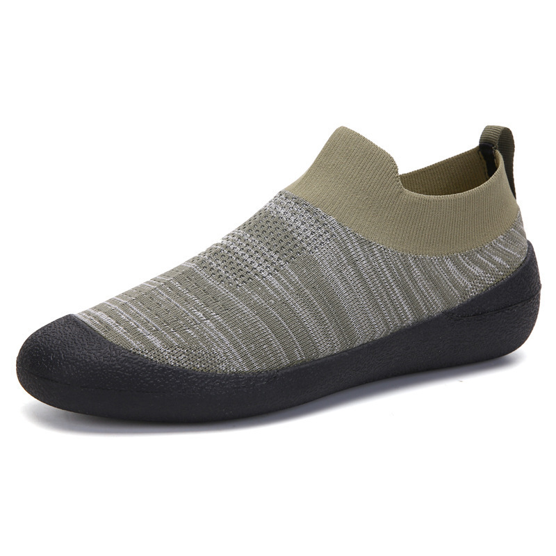 Men Shoes Sneakers Breathable Mesh Men Casual Shoes Plus Size Lightweight Sneakers Sock Shoes Slip On