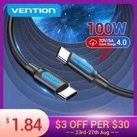 Convenio 100W USB C a USB tipo C Cable para Samsung S20 PD rápido para el Cable del cargador de Macbook Pro soporte de carga rápida USB 4,0 Cable