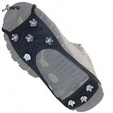 8 гвоздей ледяной захват шип для обуви Нескользящие ботинки Грипсы ходячие кошки снег захват ледяные бутсы шипы галоши кошки