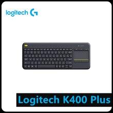 Logitech k400 plus teclado touch sem fio, com touchpad, para android, smart tv, computador periférico