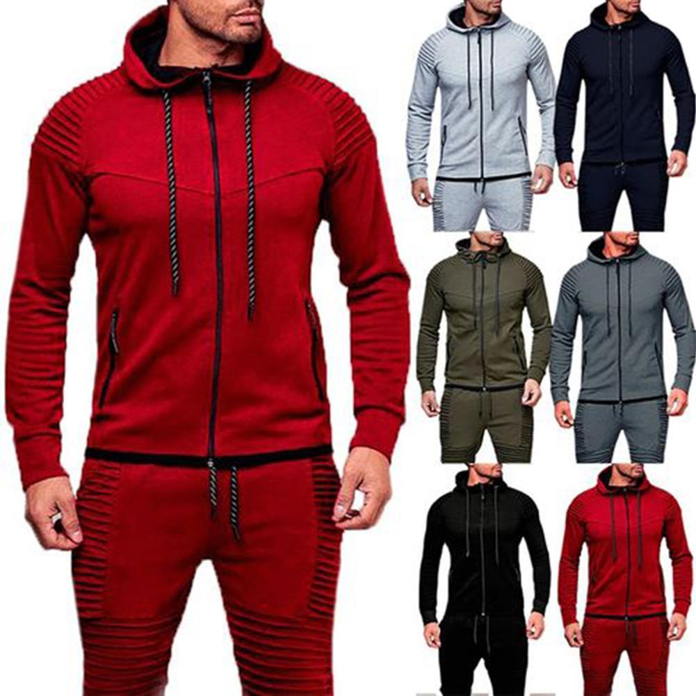 Men Sports Casual Hoodies Wear Zipper Fashion Tide Jacquard Hoodies Fleece Jacket Fall Sweatshirts Autumn Winter Coat толстовки