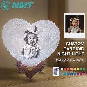 Ночник с 3d-сердечком, USB, сделай сам, для свадьбы, рождественский подарок, текст и фото, дропшиппинг