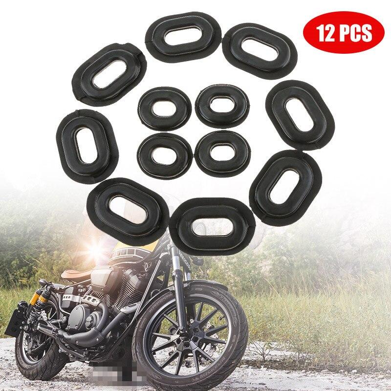 12x Rubber Grommet Fairing Washer Kit for Honda CB CL XL 100 CG125 CB125S CB125T