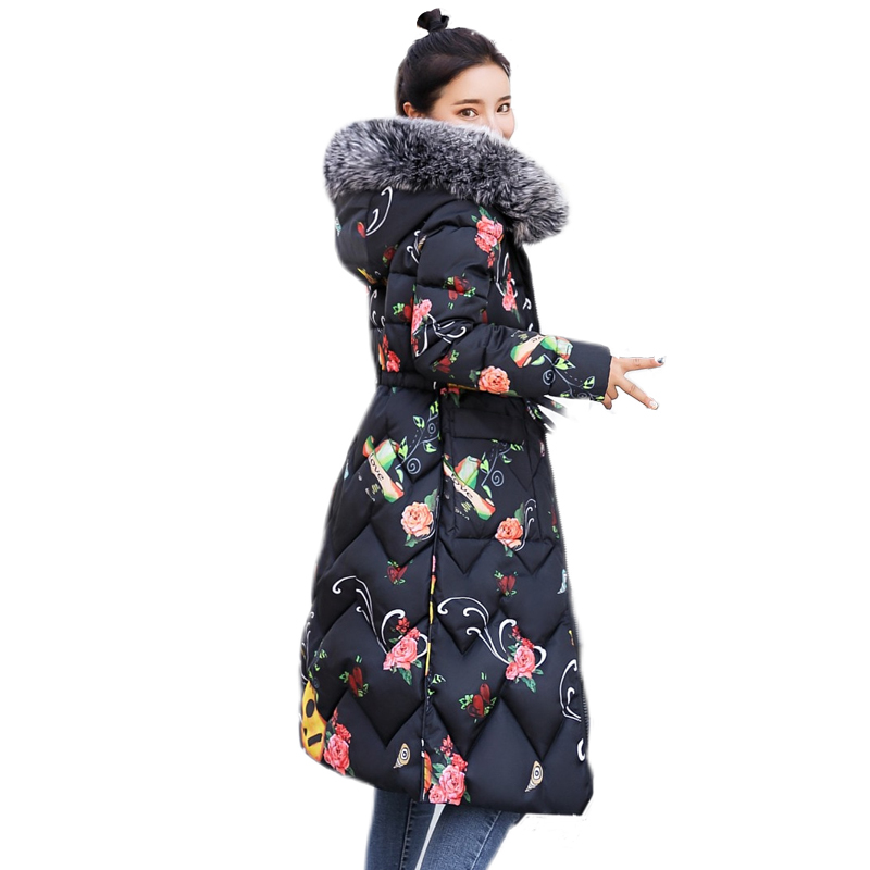 Both Sides Can Be Worn 2019 Long Down Jacket For Women Large Size Female New Hooded Fur Collar Long Down Coat Plus Size Parka
