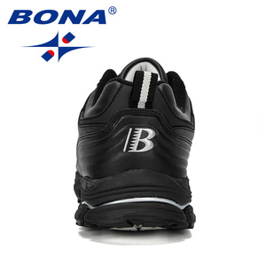 Image 3 - BONA 2019 New Designer Men Sneakers Shoes Male Outdoor Cow Split Running Shoes Trendy Trainers Masculino Shoes Man Jogging Shoes