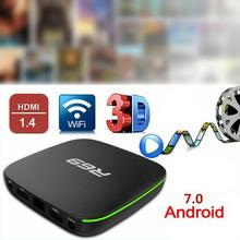 Reino unido plug r69 android 7.1 smart tv box 1 + 8g quad core hd 2.4ghz wifi 4k media player 1080p hd suporte filme 3d