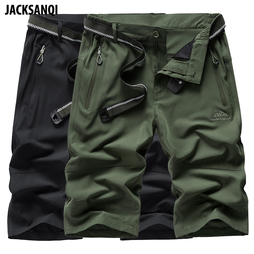 JACKSANQI Summer Men's Quick Dry Breathable Shorts Outdoor Sportswear Hiking Trekking Running Camping Climb Male Trousers RA383