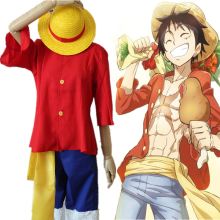 Anime One Piece Cosplay Costumes Luffy Monkey D Costume New World Uniforms Halloween Party Game