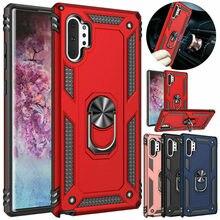 Magnetyczny pancerz pierścień uchwyt etui do Samsung Galaxy Note 10 plus 8 9 S8 S9 S10 5G A10 A20 E A30 A40 A50 A70 A80 J4 J6 A6 A8 2018