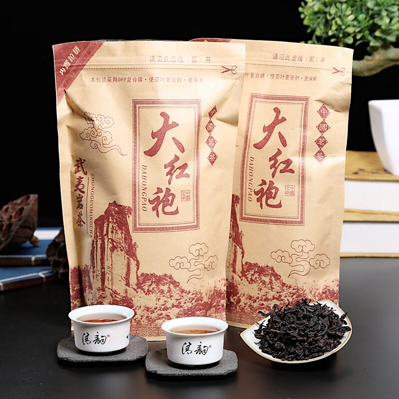 Chinese Da-Hong- Pao Tea Big Red Robe Oolong Tea The Original Green Food Wuyi Rougui Tea For Health Care Lose Weight 500g
