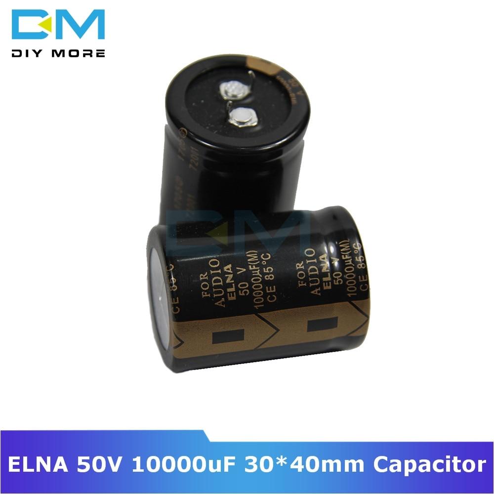 Original ELNA Audio Capacitor 50V 10000uF 30*40mm Aluminum Electrolytic Capacitor Low Impedance Capacitance