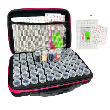 30/60/120 Bottles Diamond Painting Accessories Tool Carry Case Box Container Diamond Storage Bag Case Embroidery Mosaic