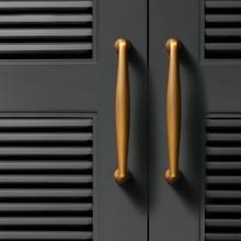 Gold Kitchen Door Handles Zinc Alloy Straight Cupboard Knobs Cabinet Pull Yellow Bronze Furniture Handle