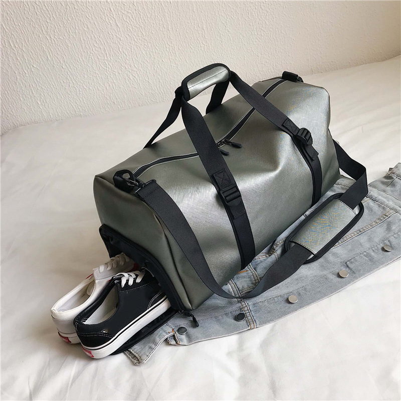 Gym Bag Pu Leather Outdoor Sports Bags Big Men Training Tas For Shoes Lady Fitness Yoga Travel Luggage Shoulder Black Handbags