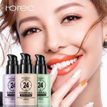 ROREC Base Matte Maquiagem Concealer Cream Liquid Foundation Face Makeup Primer Long-lasting Moisturizer Whitening Oil-control