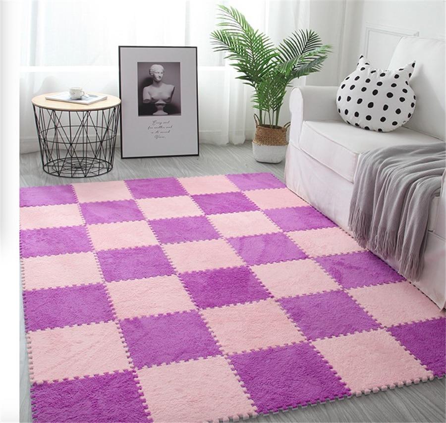 2020 Top Sale 30*30cm Living Room Bedroom Children Kids Soft Carpet Magic Patchwork Jigsaw Splice Heads Climbing Baby Mat 1pcs