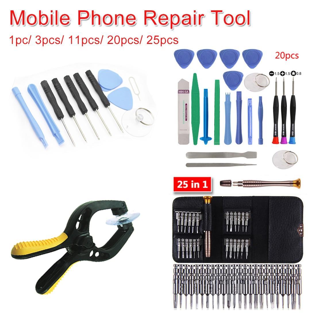 Mobile Phone Repair Tool Kit 3pcs/11pcs/20pcs/25pcs Cell Phones Opening Screwdriver Set For Iphone/Samsung/Xiaomi Hand Tool Set
