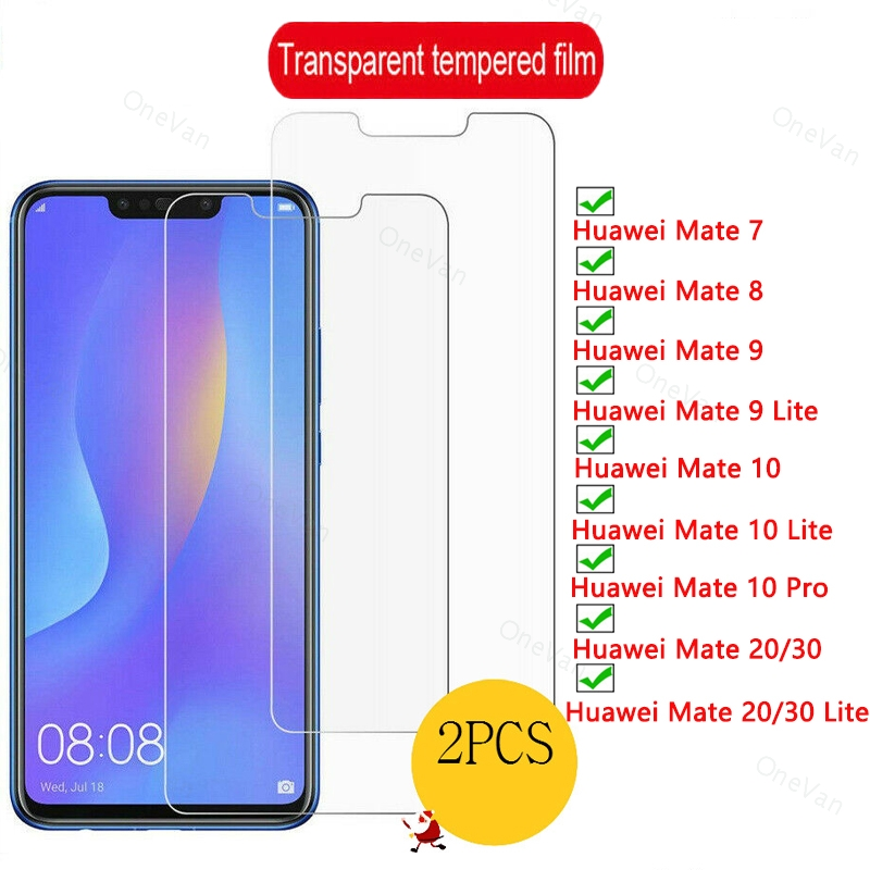 2 Pcs Tempered Glass for Huawei Mate <font><b>30</b></font> Lite 20 Lite10 Lite 9 Lite 9H HD Phone Front Glass for Huawei Mate <font><b>30</b></font> 20 <font><b>10</b></font> 9 8 7 image