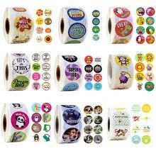 500 pces/rolo animais dos desenhos animados adesivos com recompensa bonito adesivos para diário scrapbooking professor incentivo recompensa adesivos