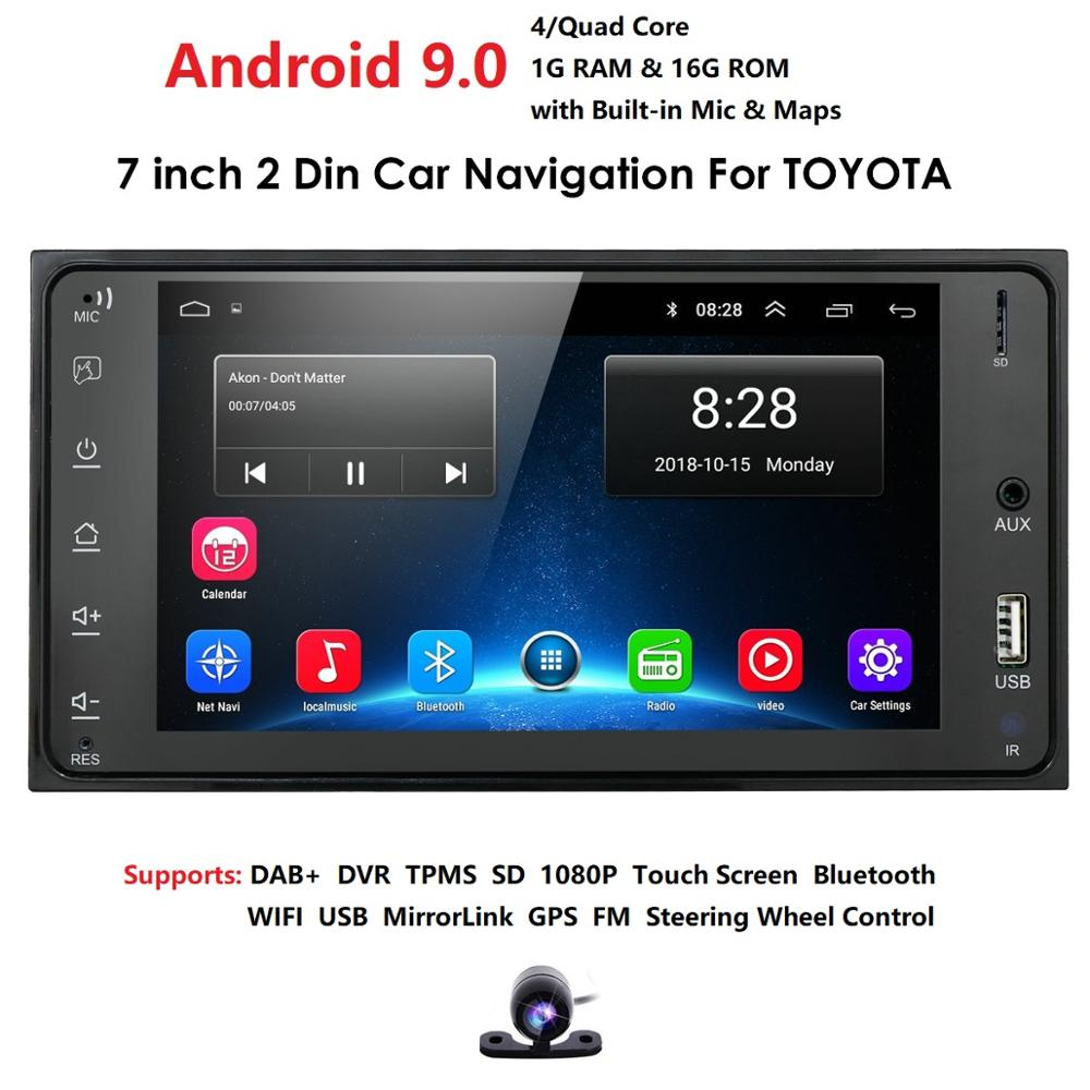 Android 9.0 For Toyota Land Cruiser FJ Prado 100 200 120 150 Series GPS Stereo Radio Car Multimedia Player Mirror Link Steering image