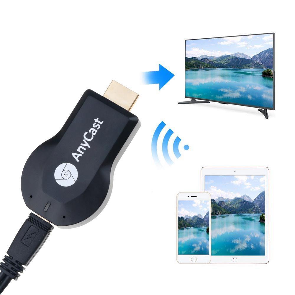 DSstyles Sem Fio WiFi TV Exibição Dongle Receptor para AnyCast M2 Plus para Airplay HDMI 1080P TV Vara para DLNA miracast