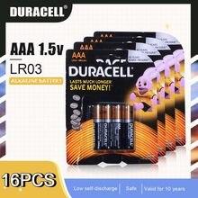 DURACELL – batterie alcaline 1.5V AAA LR03, 16 pièces, pour brosse à dents électrique, lampe torche, télécommande, cellules primaires sèches