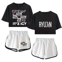 TZY Two Piece Set Top Shorts Suit Sexy Outfit Short Sleeve B