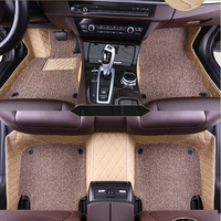 Custom car floor mat 2 layers for Renault Duster clio scenic kadjar fluence laguna koleos Espace Talisman Latitud captur mat