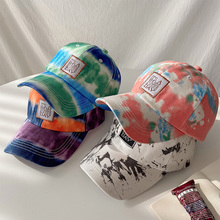 GBCNYIER Tie-Dye Hat Summer Thin Young Wild Tide New Letter Embroidery Baseball Cap Adjustable