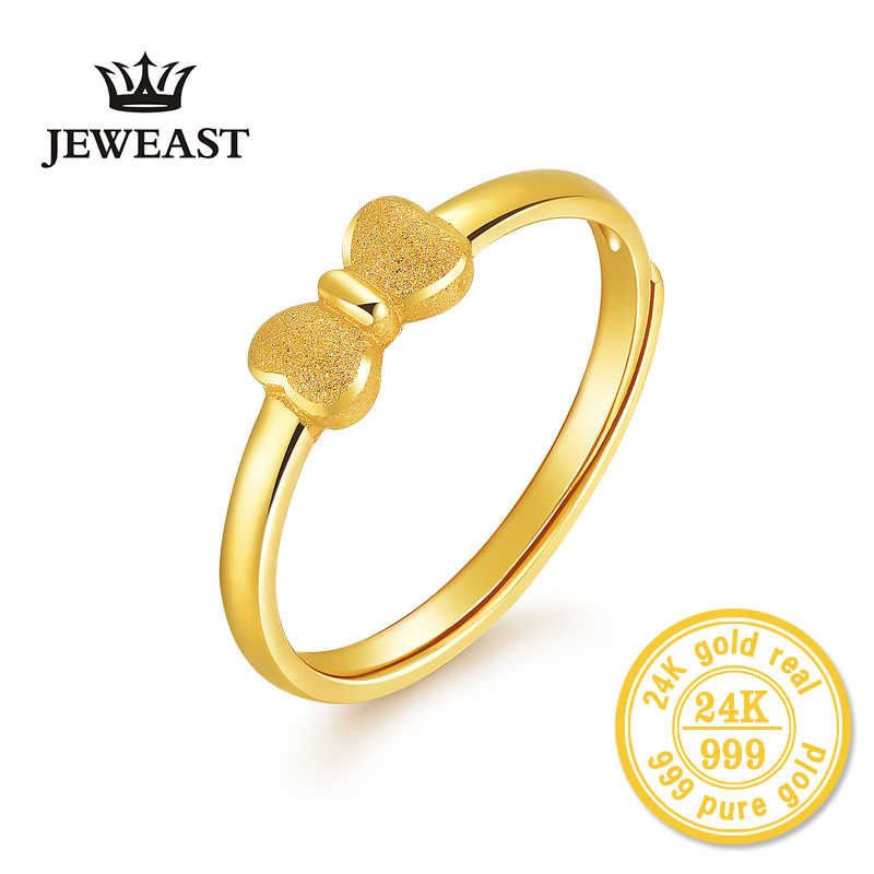 Xxx 24k Gold Ring Pure Real Pattern Exquisite Fine Jewelry Resizable Design Fashion Female New Hot Sale 999 Trendy Party Women Aliexpress