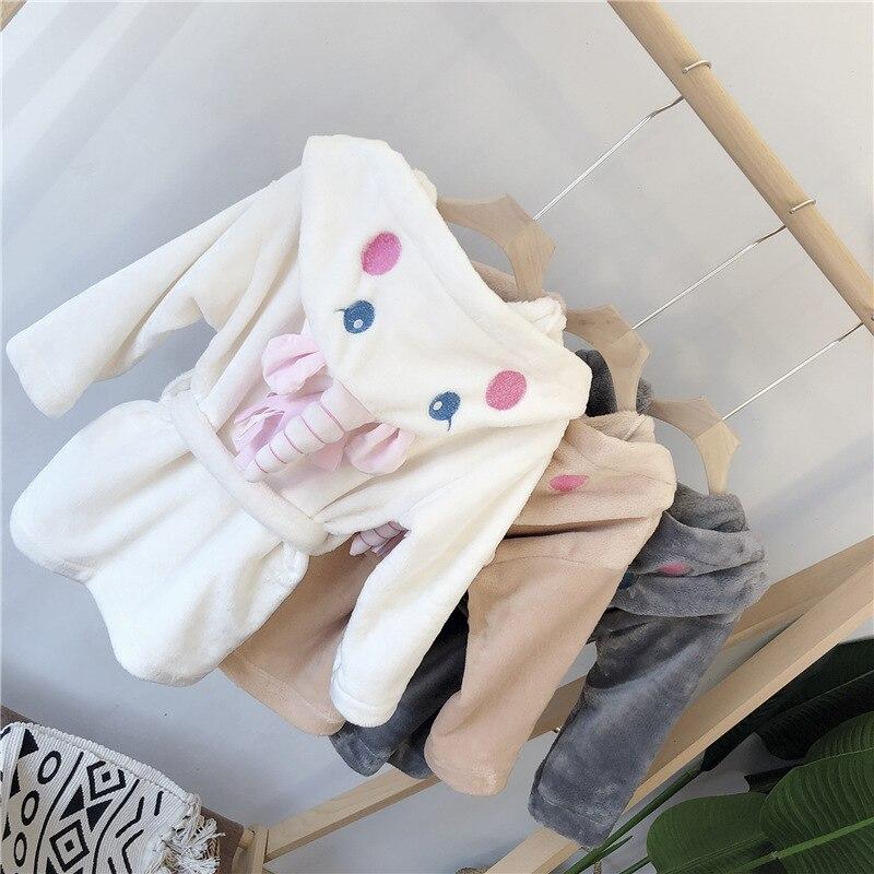 South Korea Childrenswear Children Baby Tracksuit Cute Cartoon Unicorn Sleep Bathrobe Female Baby Bathrobe Wq108