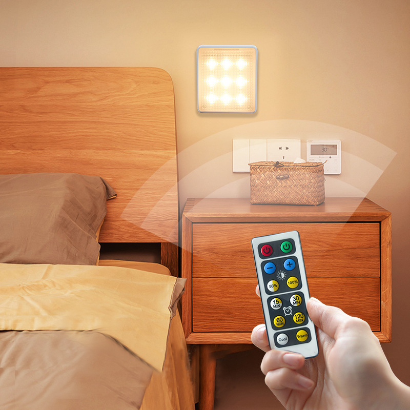 LED Wireless Touch Dimmable Night Light Battery Power For Stairs Corridor Cabinet Bedroom Mini Smart Night Lights Home Decor