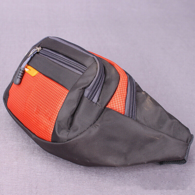 Black Waist Bum Bag Fanny Pack Travel Good Quality 4 Zips Mens Ladies Bags Unisex NEW /BY