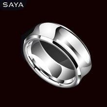 Вольфрамовое мужское кольцо для хип хопа пальца с изогнутой
