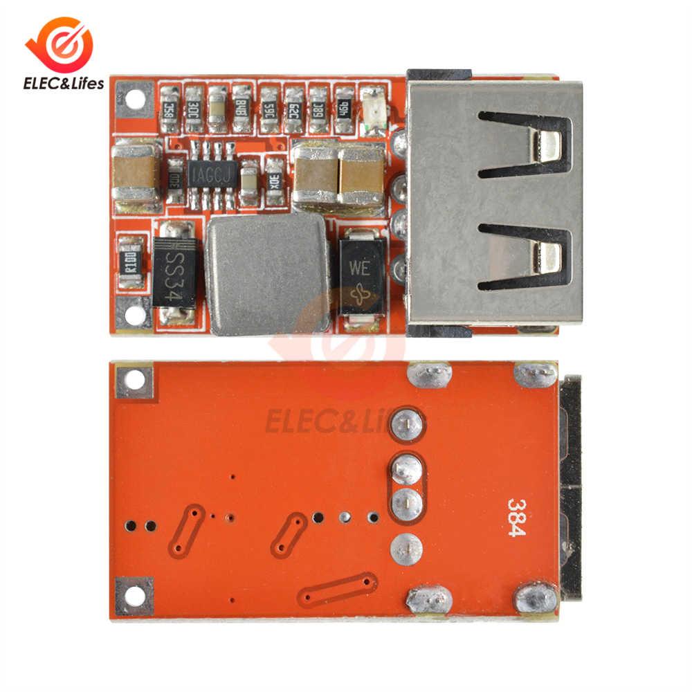 DC-DC 9 v 12 v 24 v a 5 v 3a carregador usb step-down buck placa de tensão transformador conversor módulo de fonte de alimentação 6-24 v