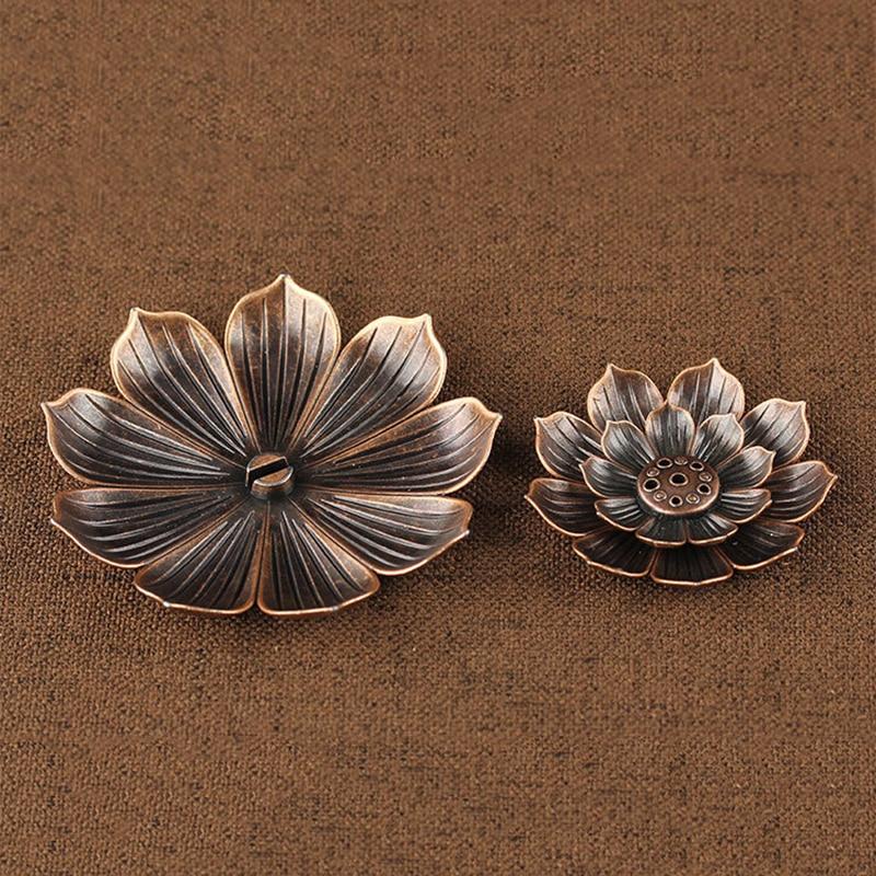Metal Lotus Incense Burner