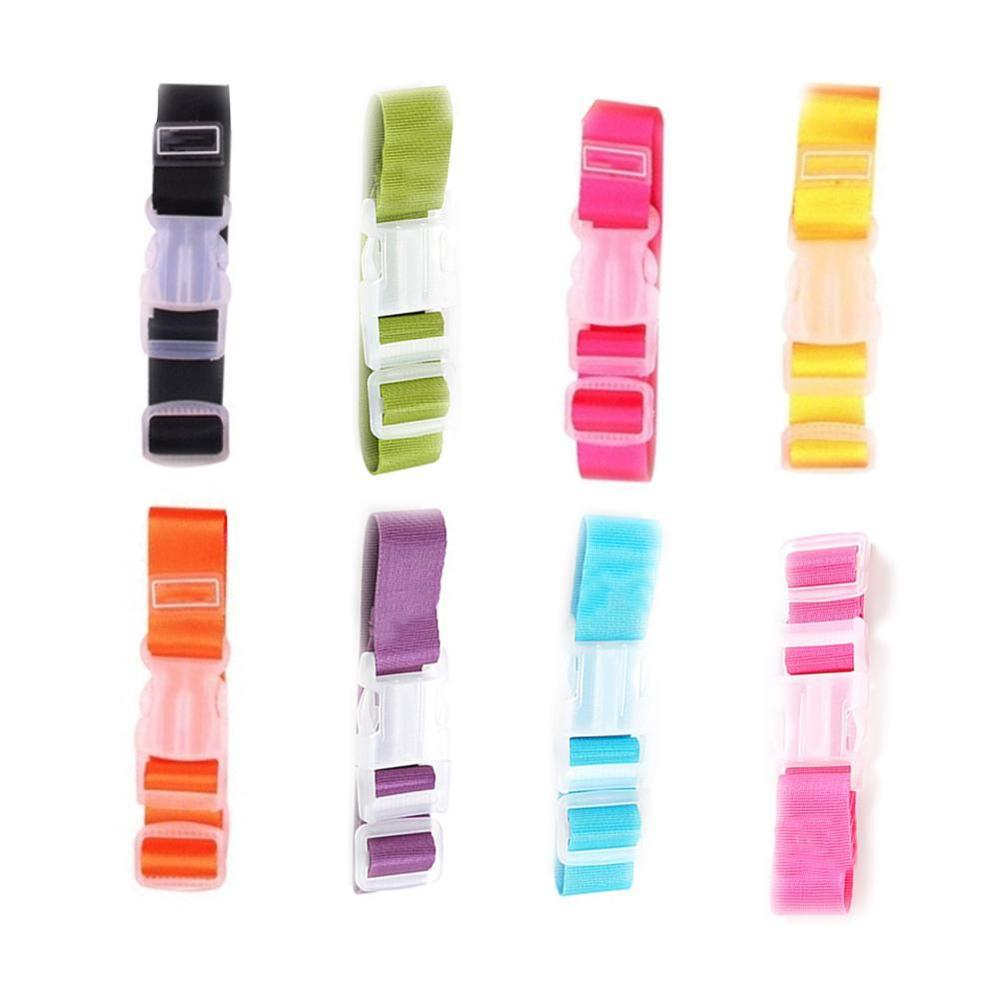 Luggage Straps Adjustable Nylon Luggage Accessories Hanging Buckle Straps Suitcase Bag Straps Colorful Tie Down Belt For Baggage