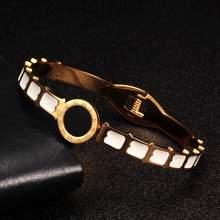 Мода нержавеющая сталь римскими цифрами дизайн Шарм Браслеты