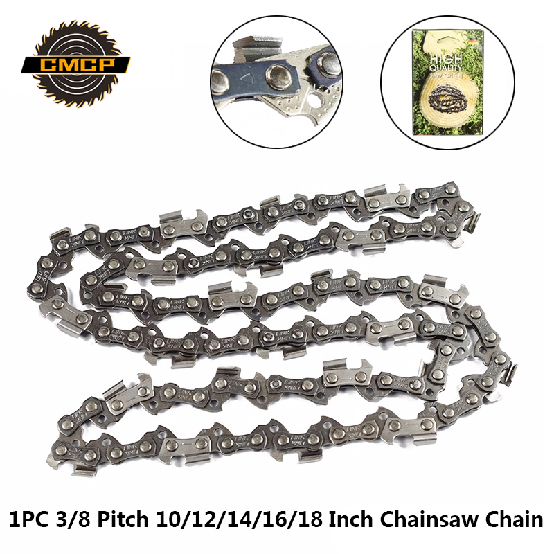 """1pc 10"""" 12"""" 14"""" 16"""" 18"""" Inch Chainsaw Chain 3/8 Pitch Saw Chain 40-64 Drive Links Electric Chainsaw Parts Chainsaw Blades"""