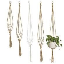 Porte-plante en macramé 90/105/122cm, support pour Pots de fleurs, corde de levage nouée, décor suspendu de balcon, fournitures de jardin pour la maison