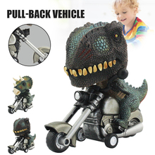 Creative Car Toy Cute Animal Pull Back Car Model Dinosaur Riding A Motorbike Simulation Toy Car For Kids Collectibles Toys