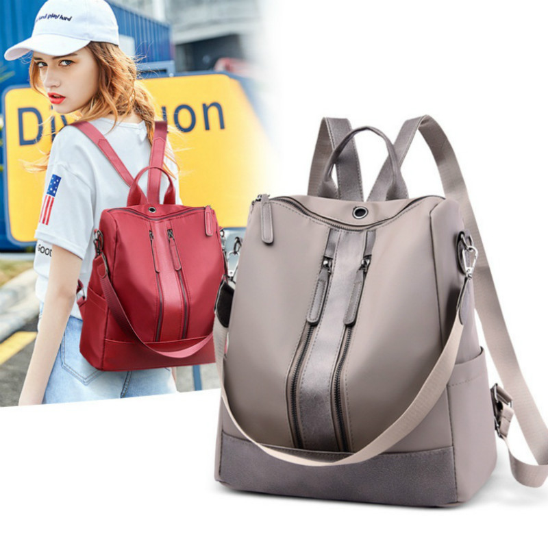 New Anti-theft Women's Backpack British Style PU Leather Waterproof Fashion School Bag Leisure Travel Shoulder Bag