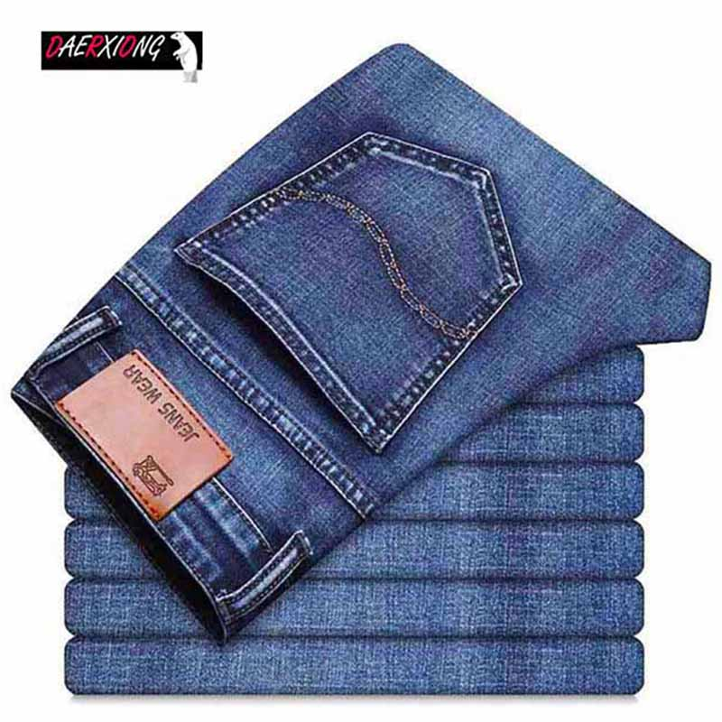 2020 Casual Jeans Men Classic Business Stretch Denim Jean Man Trousers Straight Slim Fit Young Man Skinny Jeans Vintage Pants