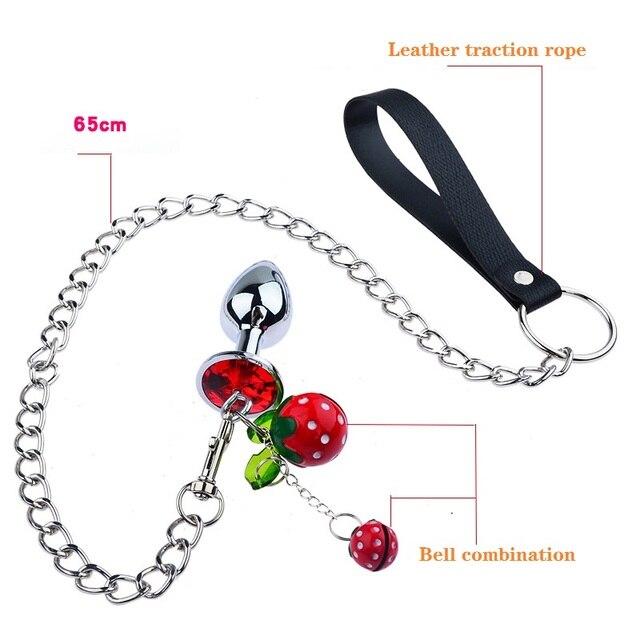 Metal Chain Anal Dildo Vibrator Male Prostate Massager Anal Beads Plug G Spot Butt Plug Masturbation Anal Sex Toys for Couple 2